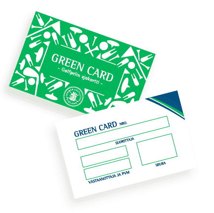 Golf Green Card