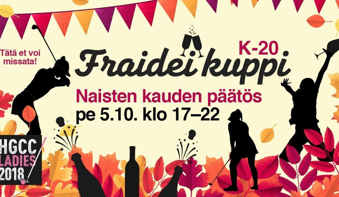 Naisten kauden päätös pe 5.10.18